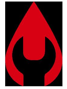 logo druppel rood